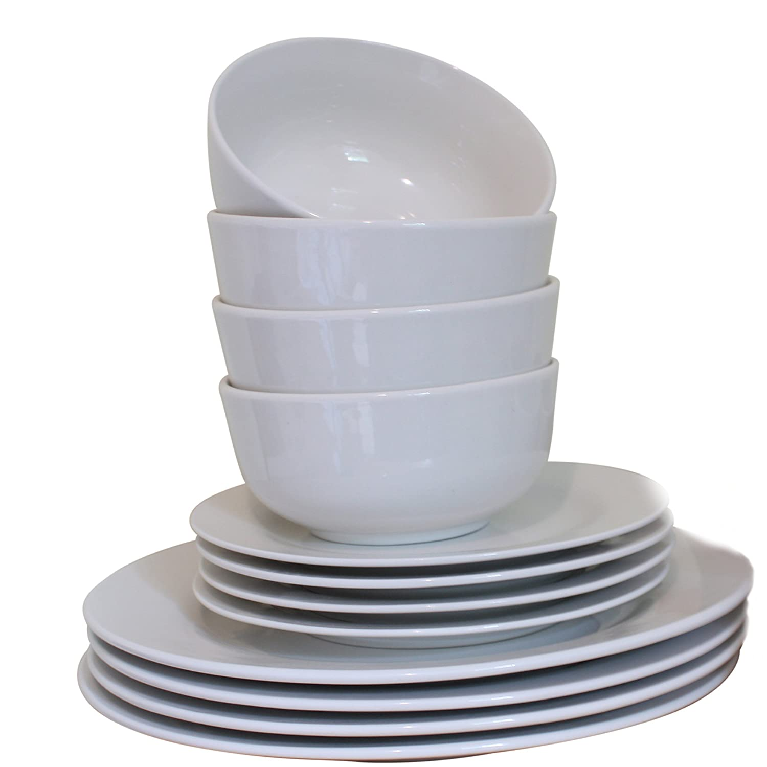 sc 1 st  Amazon UK & 36 Piece Basic Dinner Set in White: Amazon.co.uk: Kitchen \u0026 Home