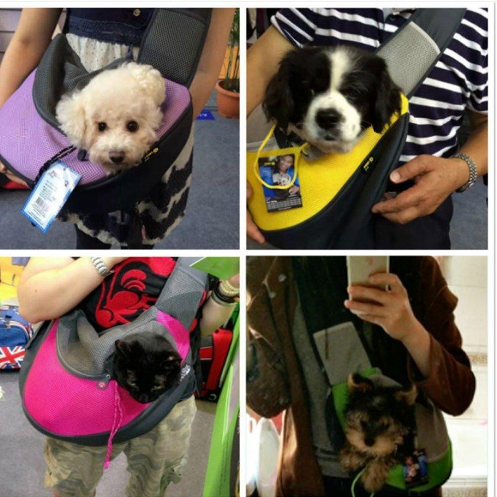 BIGWING STYLE Sac de Transport pour Chien Chat Petit Animal Domestique Sac à Bandoulière pour Transporter Petit Animal Sac en Toile BW0018