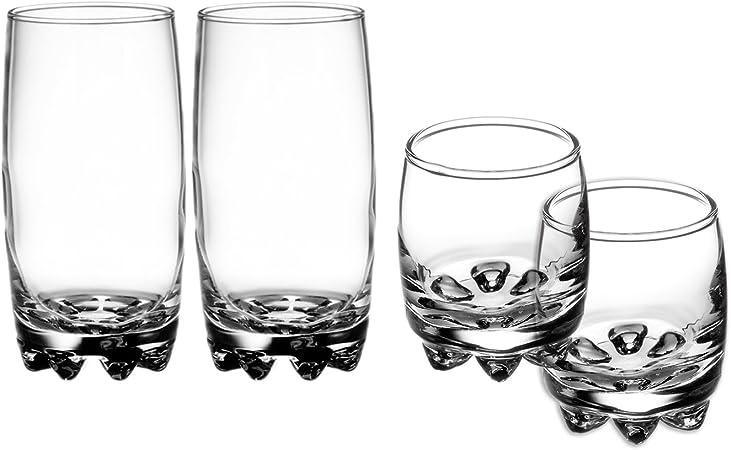 Bormioli Rocco 10oz Galassia Rocks GlassSet of 4