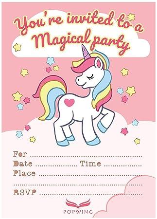 Amazon.com: POPWING 30 Invitaciones de cumpleaños con sobres ...