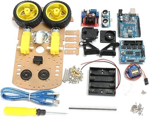 Bluelover Diy L298N 2Wd Ultrasonido Inteligente De Seguimiento ...
