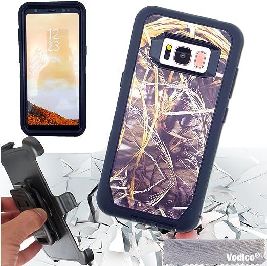 Coque Samsung Galaxy S8, Vodico 3 en 1 Heavy Duty antichoc hybride High Impact Defender rigide antichocs en TPU résistant aux rayures Coque avec clip ...