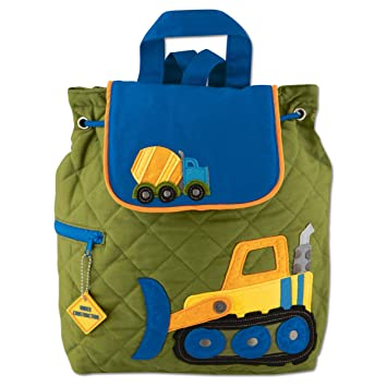 6649a2082e65b7 Amazon.com   Stephen Joseph Quilted Construction Backpack and Lunch Box - Toddler  Backpacks - Preschool Backpacks   Baby
