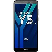 Huawei Y5 2018 Smartphone Débloqué 4G (Ecran: 5,45 pouces - 16 Go - Double Nano-SIM + Port MicroSD - Android) Noir
