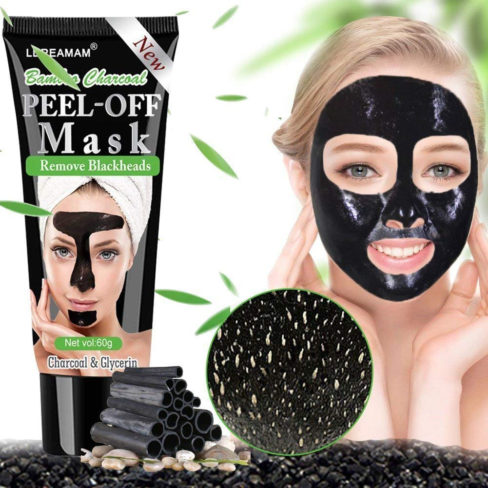 Blackhead Remover Mask,Black Mask, Peel off mask,Deep Cleansing Mask,Purifying Acne Blackhead Mask,Bamboo Charcoal Blackhead Exfoliators Deep Clean Mask Black Mud Pore Removal Strip Mask For Face Nose Acne Treatment LDREAMAM