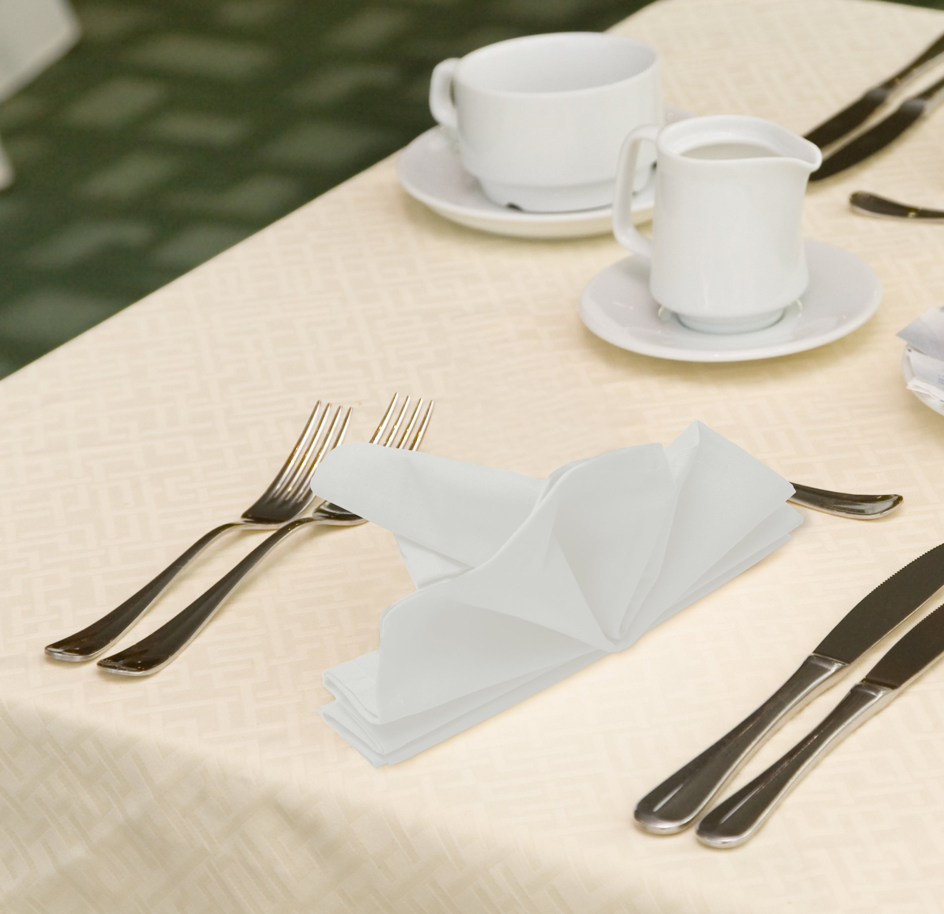Cotton Dinner Napkins White - 12 Pack (18 inches x18 inches) Soft and Comfortable - Durable Hotel Quality - Ideal for Events and Regular Home Use - by Utopia Bedding by Utopia Bedding (Image #7)