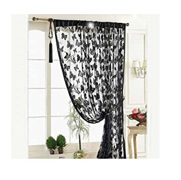 Amazoncom Butterfly Lace Shower Curtain 100x200cm Buedvo Door