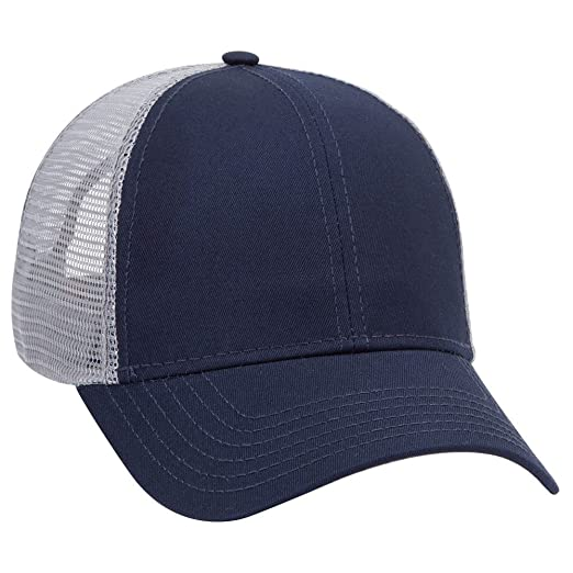 OTTO Cotton Twill 6 Panel Low Profile Mesh Back Trucker Hat (One Size 69ea055cdeee