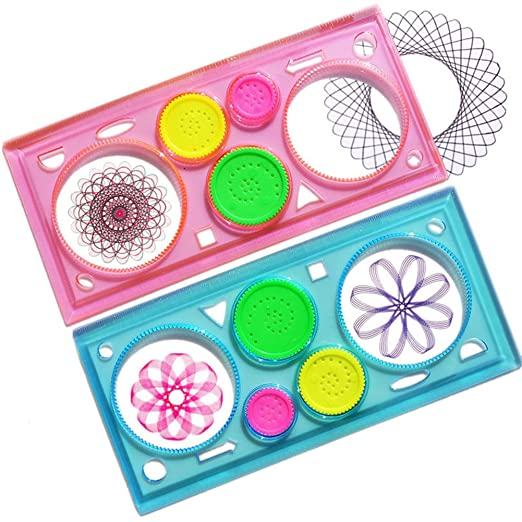 2019 Latest Design Spirograph Geometric Ruler Drafting Tools Stationery Drawing Toy Set Student New Rulers Office & School Supplies