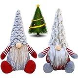 Beaulyn Christmas Gnome Plush Decorations - Handmade Plush Doll, Swedish Santa Figurines Sitting Ornaments - Christmas…