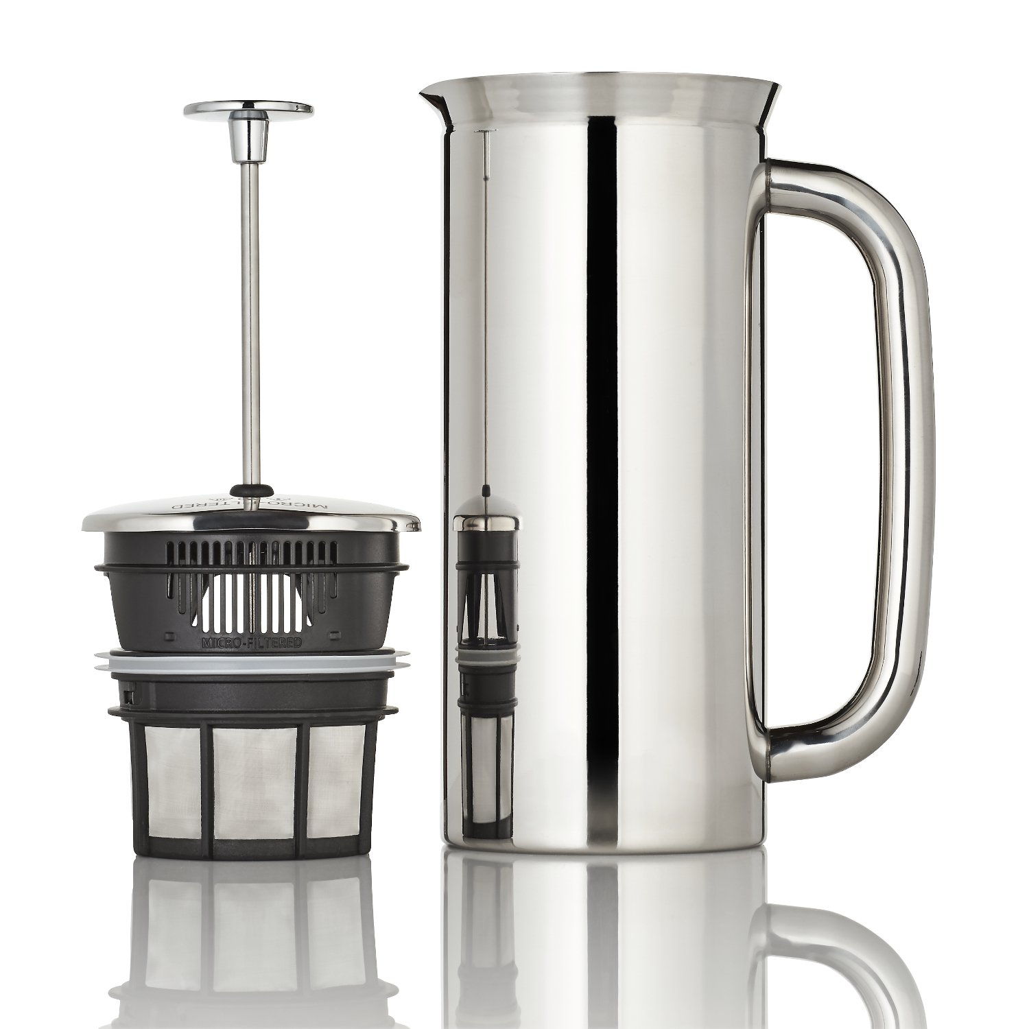 Espro Coffee Press P7-32 oz, Vacuum Insulated, Polished Stainless Steel with Dual Microfilters