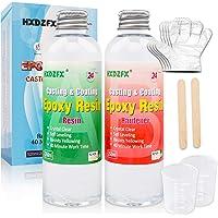 Epoxy Hars 520ml/566g Kit - 1:1 Ratio Crystal Clear Resin Coating voor hout, Bar, tafel, Sieraden maken, Craft Decoratie…