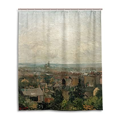 Blue Viper Van Gogh Painting View Of Paris From Montmartre Home Decorations Shower Curtain 60 X