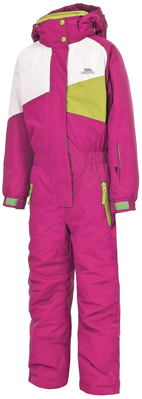 Trespass Wiper Kids Unisex Ski Suit Warm Winter Hooded Jumpsuit for Boys Girls