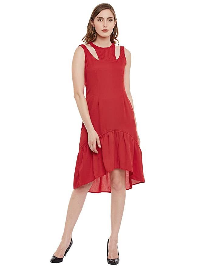 b9ef862fb Latin Quarters Dress for Women (RED S): Amazon.in: Clothing & Accessories