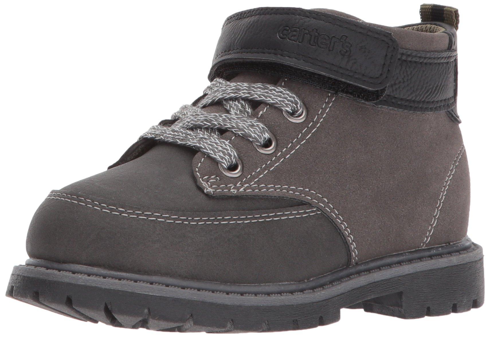 Carter's Boys' Pecs Fashion Boot, Grey/Black, 9 M US Toddler