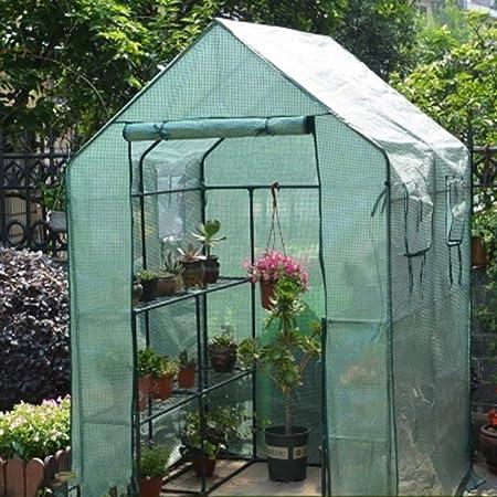 XY&CF-Flower house Invernadero Jardín PE Jardín Invernadero Cubierta Invernadero Casa cálida Casa Flor Flor Planta Invernadero (143 * 143 * 195 cm) (Color : B): Amazon.es: Hogar