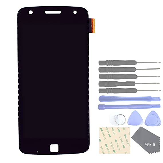 VEKIR Display and Touch Assembly Screen for Motorola Moto Z Play Droid  XT1635-02 XT1635-01(Black)[Confirm Your Model is Moto Z Play]