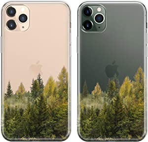 uCOLOR Case for iPhone 11 Pro Max Thin Slim Hybrid Case Hard PC with Soft TPU Bumper Anti-Scratch Protective Crystal Clear Case Designed for iPhone 11 Pro Max 6.5 inch 2019 Release (Forest)