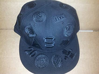 fd72ce654a93a8 Amazon.com : New Black Supreme Side Logo New Era 5950 Hat Fitted ...