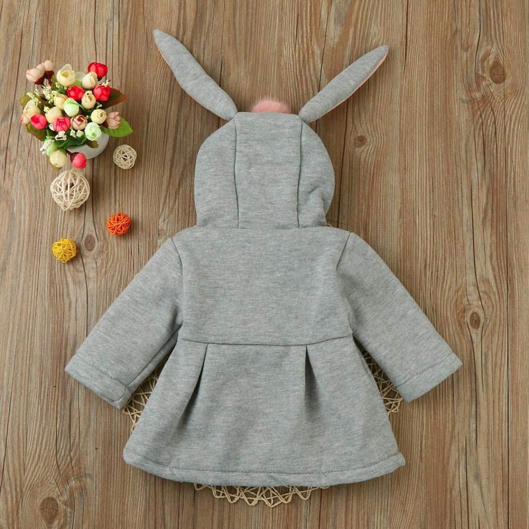 Unisex Bambine E Bambino Coniglio con Cappuccio Cappotto Giacca Animale Felpa Mantello del Cappotto di Inverno della Pelliccia della Neonata Abbigliamento Giacca Ragazzo E Ragazza Cotone