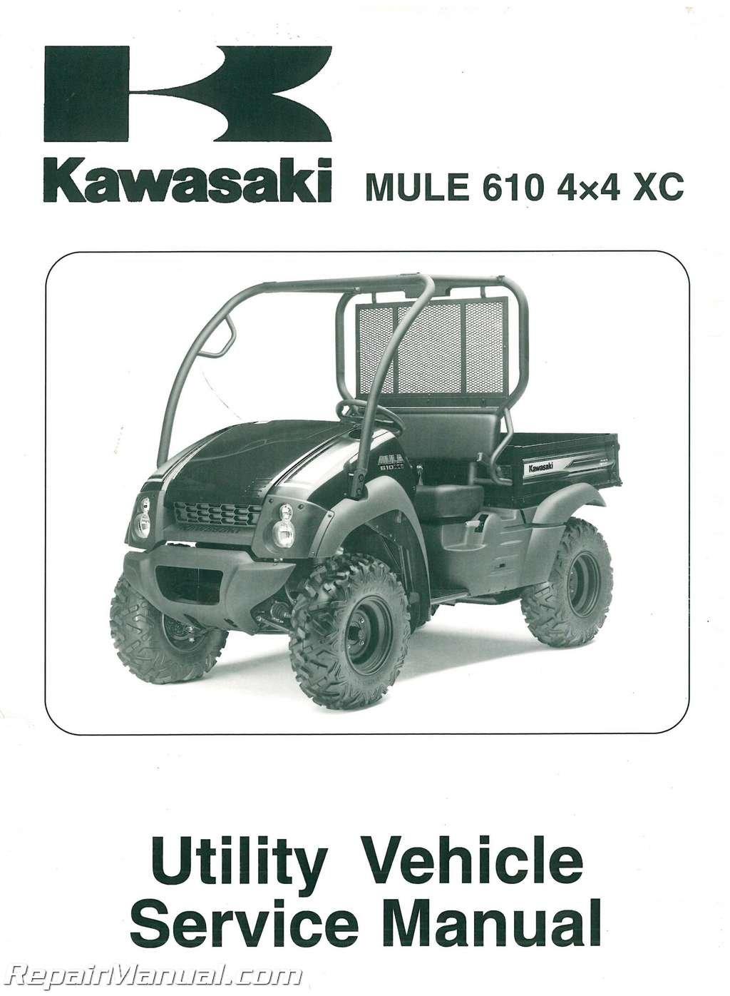 99924-1433-03 2010-2011 Kawasaki KAF400D Mule 610 4×4 XC Service Manual:  Manufacturer: Amazon.com: Books