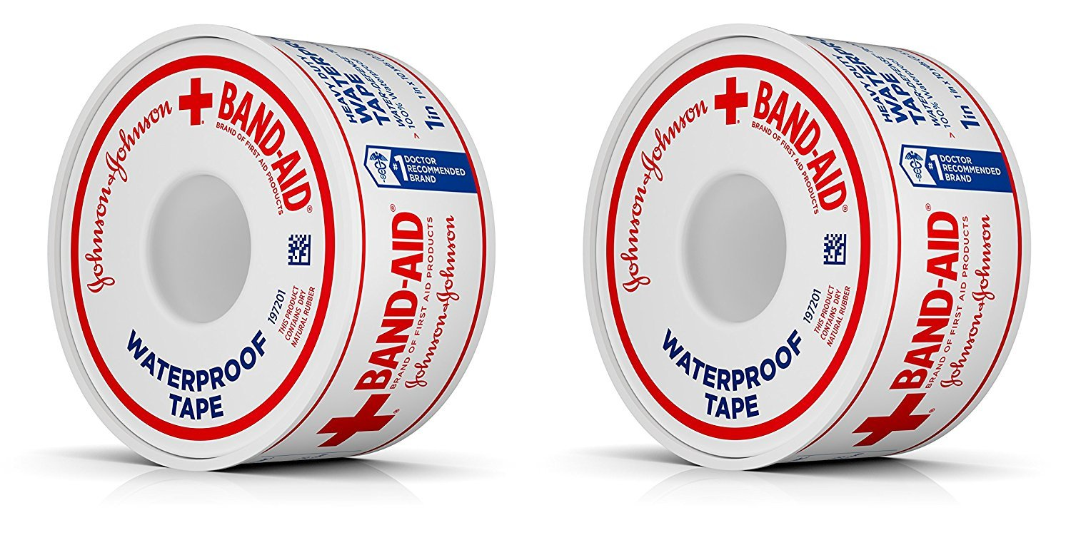 Amazon.com: Johnson and Johnson Red Cross Waterproof First Aid Tape ...