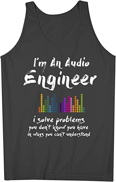 89963e5d8b0 Image Unavailable. Image not available for. Color  Teequote Audio Engineer  Funny Musician Men s Tank Top Sleeveless Shirt ...