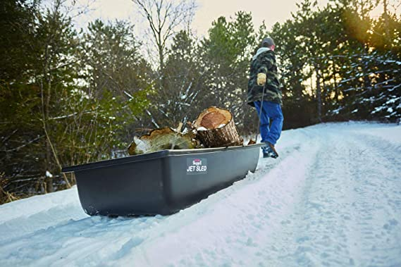 Details about  /Jet Ice Fishing Sled Tow Container Rope Runner Molded Gear Haul Outdoor Sports