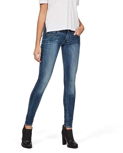 the latest db065 64f7e G-STAR RAW Damen Lynn D-Mid Waist Super Skinny Jeans