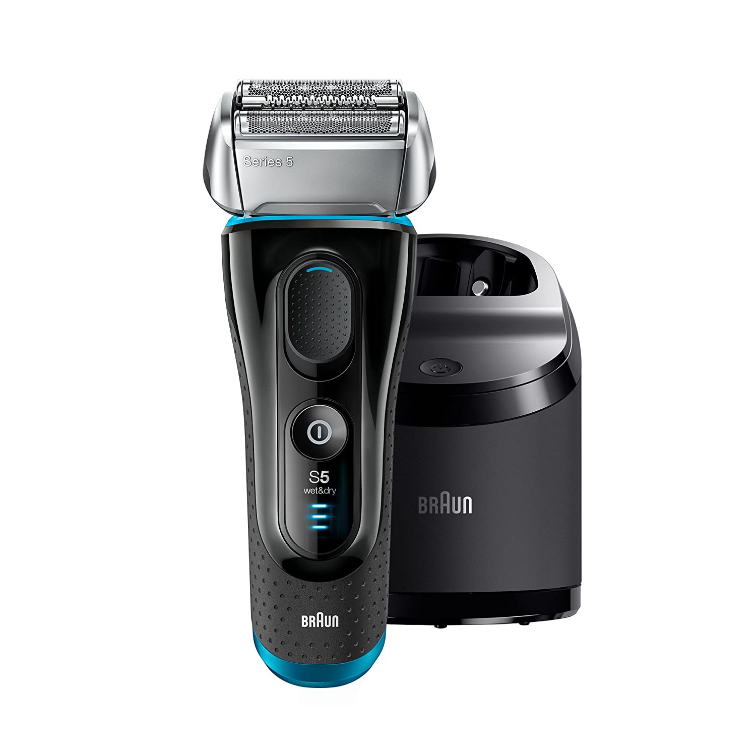 Braun Series 5 5190cc Men's Electric Rechargeable Cordless Razor and Foil Shaver with Clean & Charge System