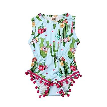 84427c9f1a129 Amazon.com: Jinbaolong Sale 0-24M Cute Newborn Baby Girl Sleeveless ...