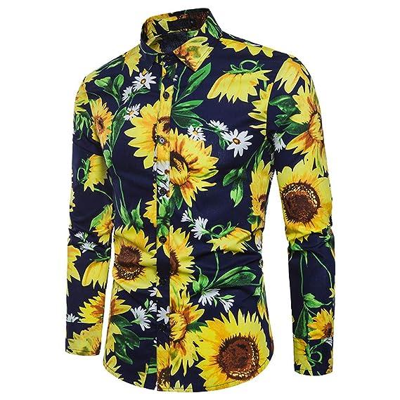 Hombre Otoño Invierno Casual Patchwork Manga Larga Slim O-Cuello Camiseta Top Blusa por Internet: Amazon.es: Ropa y accesorios