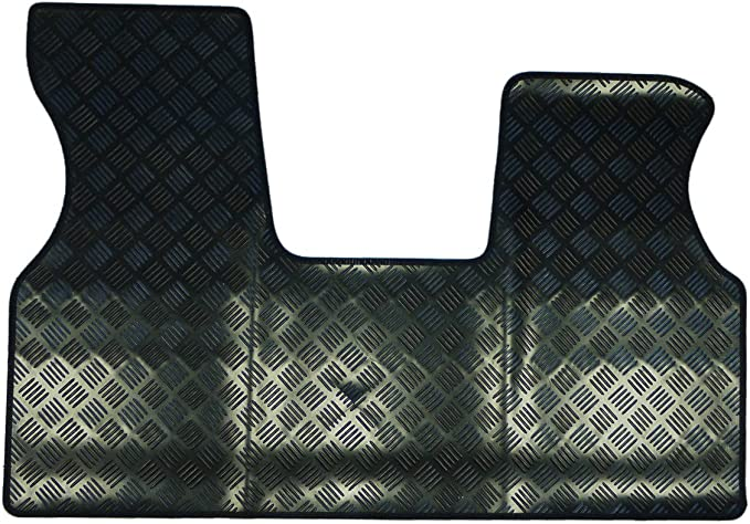Tailored Fit Durable 3mm Black Rubber Mat 1 Piece Van Floor