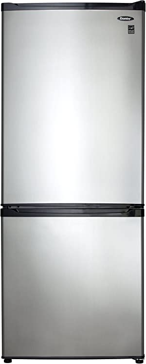 9.2 Cu. Ft. Bottom Mount Freezer- Black with Stainless Steel