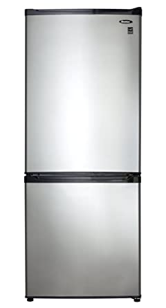 Ft. Bottom Mount Freezer  Black With Stainless Steel