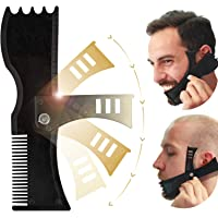 Beard Shaping Tool, Beard Shaper, TERSELY Adjustable Beard Trimming Guide with Comb and Styling Template,Beard Lineup…