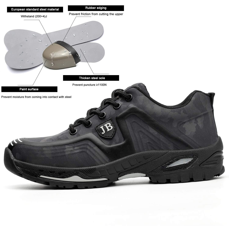 Gris-2,Taille44 H-Mastery Chaussure de S/écurit/é Homme Femme Chaussures de Travail avec Embout de Protection en Acier