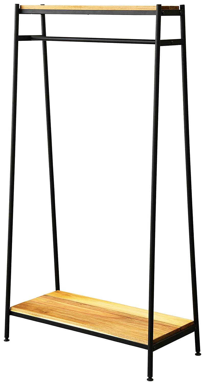 アイアン*ウッド アカシア ハンガーラック 幅81cm×奥行40.5cm×高さ156cm オイル仕上げ AHR-80 B01M4R9CKC Parent