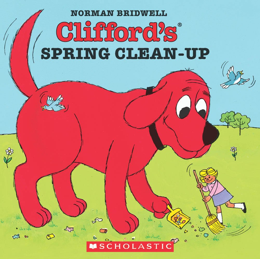 cliffords spring clean up clifford the big red dog norman bridwell 9780590060127 amazoncom books