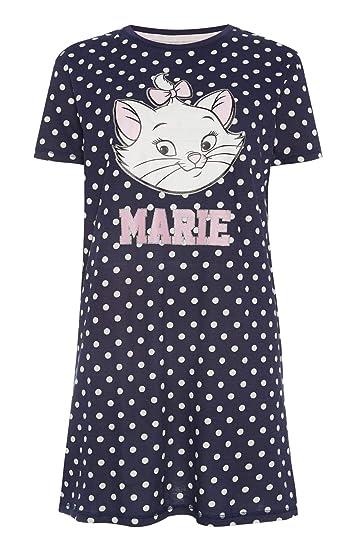 b037f903c5241 Femmes Chemise de Nuit Disney Aristochats Marie de Nuit Vêtement de Loisirs  Tailles XS-XXL