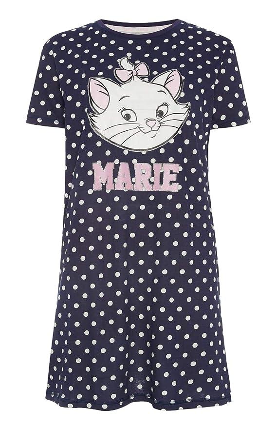 eeff51f922f2e Femmes Chemise de Nuit Disney Aristochats Marie de Nuit Vêtement de Loisirs  Tailles XS-XXL Noir - Noir, (UK 10-12 / EUR 38-40 / USA 6-8 / IT 42-44): ...
