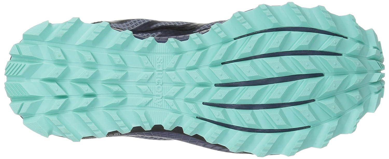 Saucony Women's Peregrine 8 Sneaker B077XZ2LST 7 B(M) US|Grey/Vio/Aqua