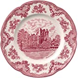 Johnson Brothers Old Britain Castles Pink Dinnerware 10-Inch Dinner Plate, Single Piece