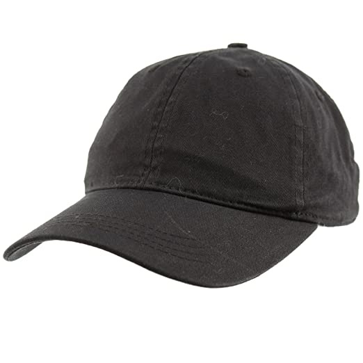 4ae146a2e233d Everyday Unisex Cotton Dad Hat Plain Blank Baseball Adjustable Ball Cap  Black