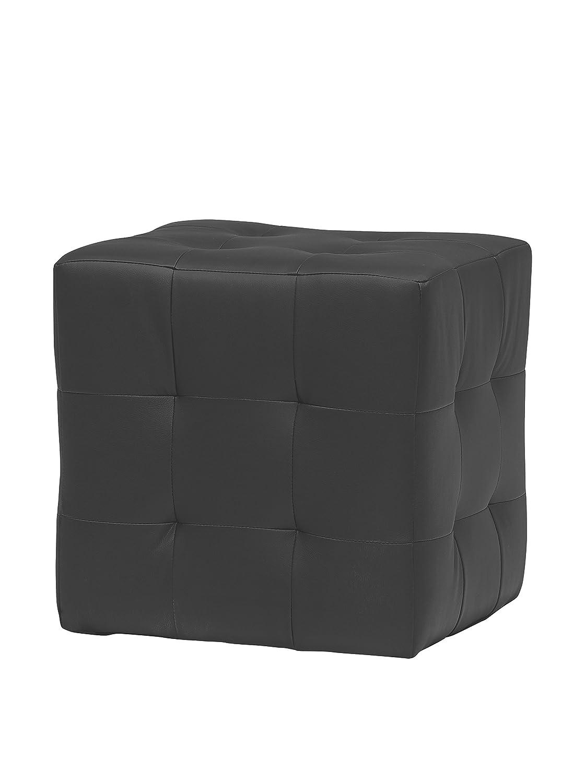 13Casa - Joy A1 - Pouff quadrato. Dim: 45x45x45 h cm. Col: Nero. Mat: Legno massello, Ecopelle. F00040901007_BLACK