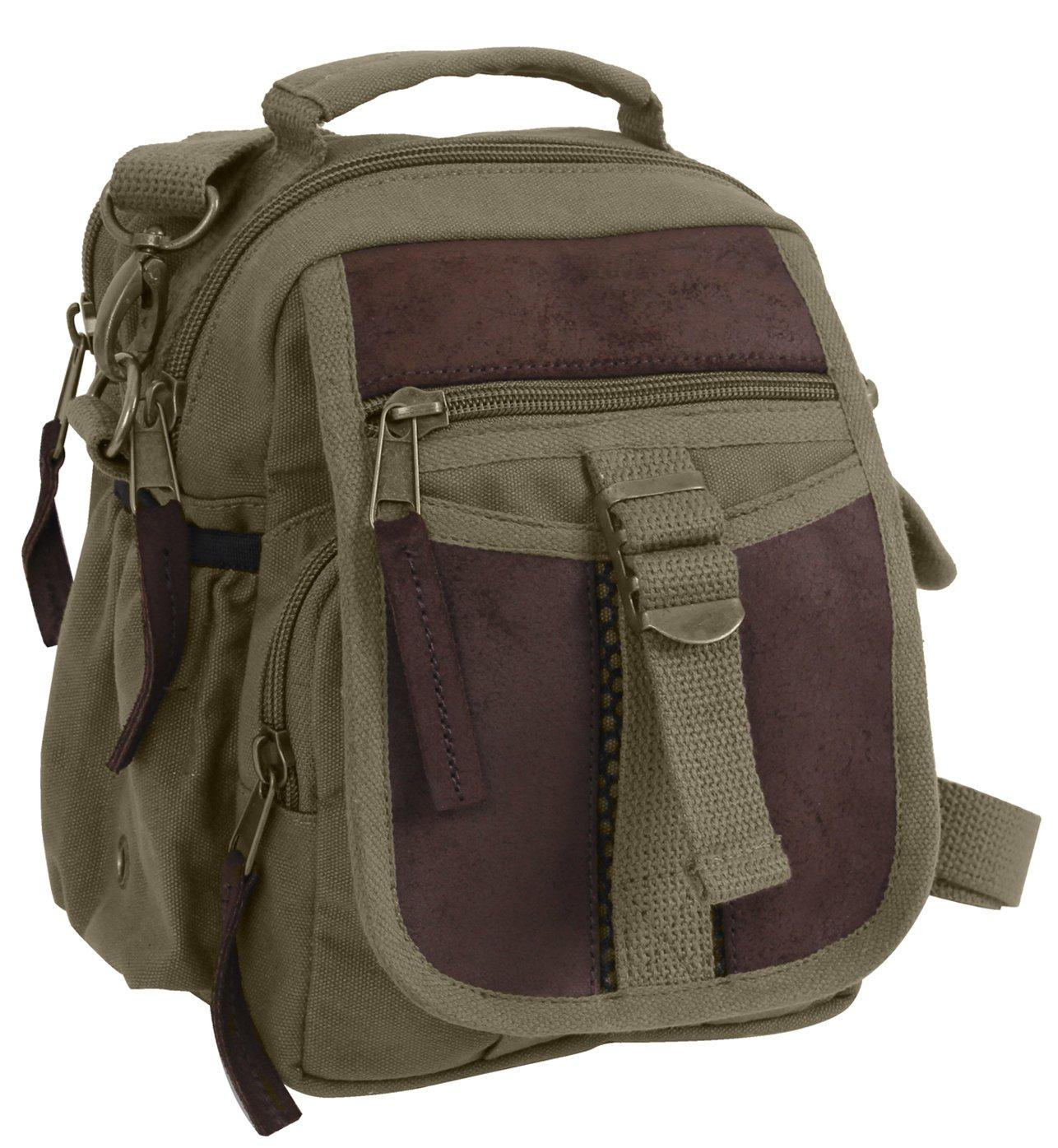 Amazon.com  Rothco Canvas   Leather Travel Shoulder Bag 76f4b436b91a
