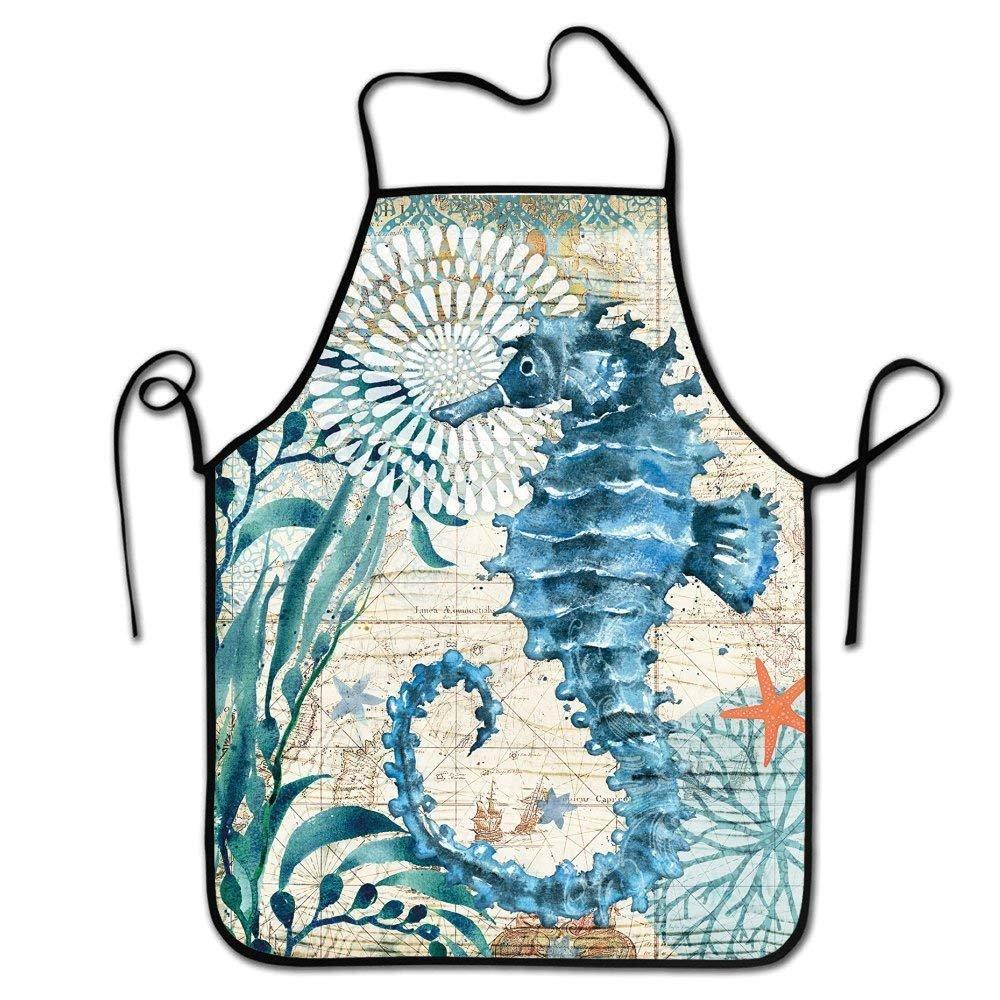 Amazon.com: Faverling Fashion Design,Adult Chef Apron,Restaurant Durable  Baking Bib Apron,Keep The Clean Clothes-Seahorse: Home & Kitchen