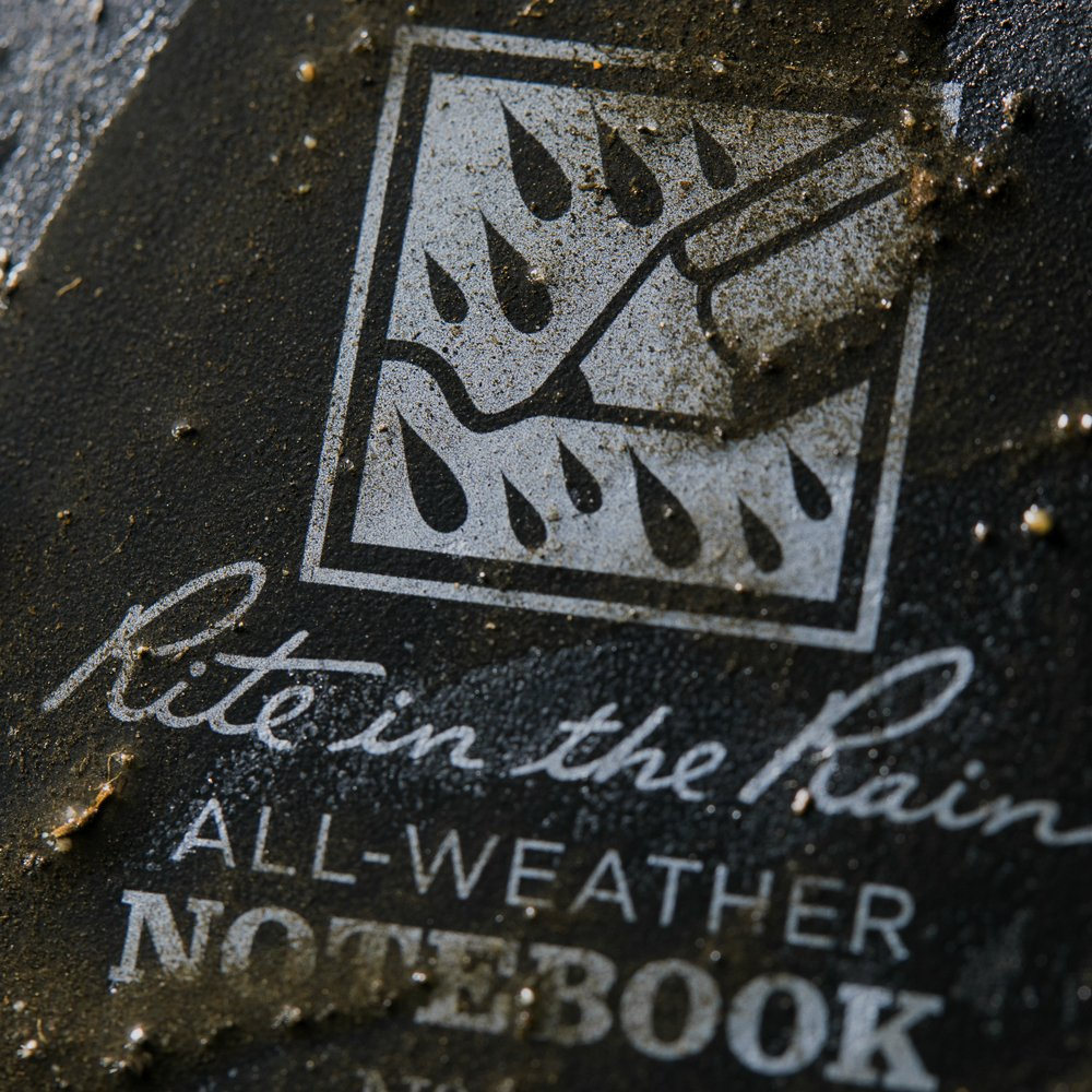 Rite in the Rain Weatherproof Top-Spiral Notebook, 3'' x 5'', Black Cover, Universal Pattern (No. 735) by Rite In The Rain (Image #3)