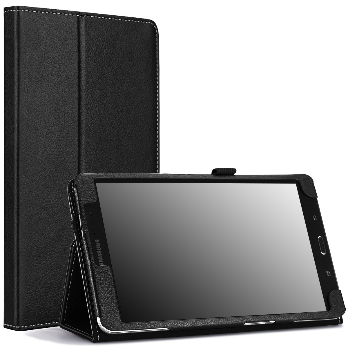 MoKo Samsung Galaxy Tab PRO 8.4 Case - Slim Folding Cover Case for Galaxy TabPRO 8.4 Android Tablet, Black (with Smart Cover Auto Wake/Sleep. Will NOT Fit Samsung Galaxy Tab 4 8.0)